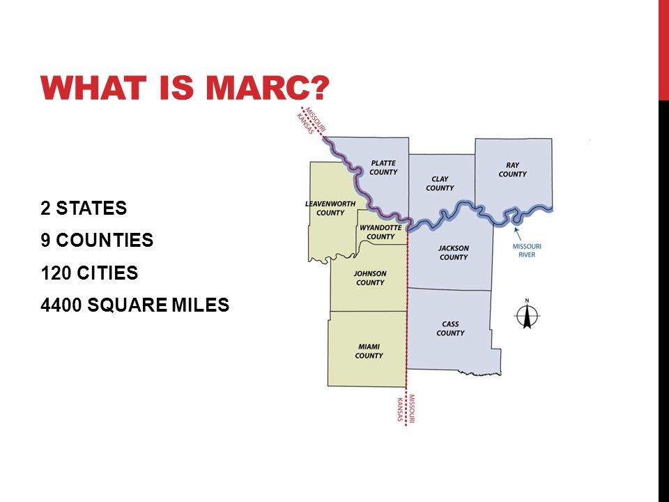 WHAT IS MARC 2 STATES 9 COUNTIES 120 CITIES 4400 SQUARE MILES