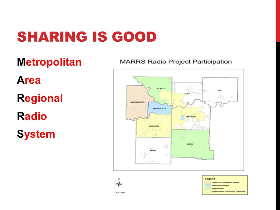 SHARING IS GOOD Metropolitan Area Regional Radio System