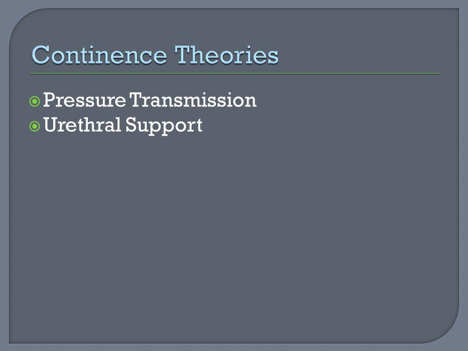  Pressure Transmission  Urethral Support