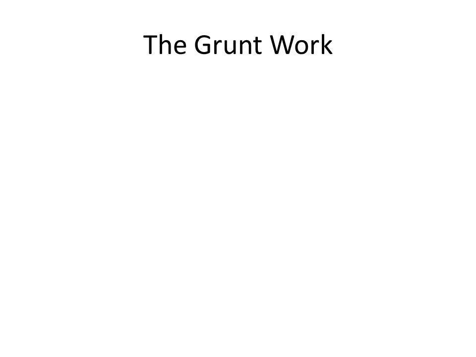 The Grunt Work