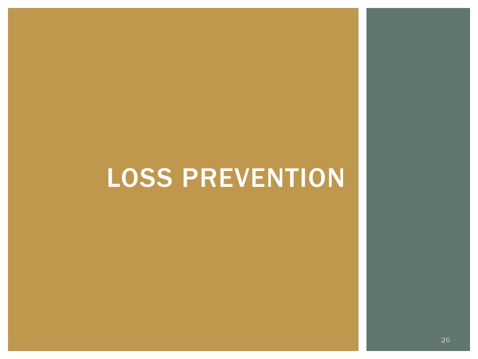 LOSS PREVENTION 26