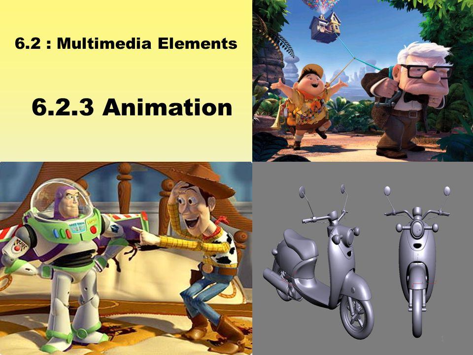 6.2 : Multimedia Elements 6.2.3 Animation 1