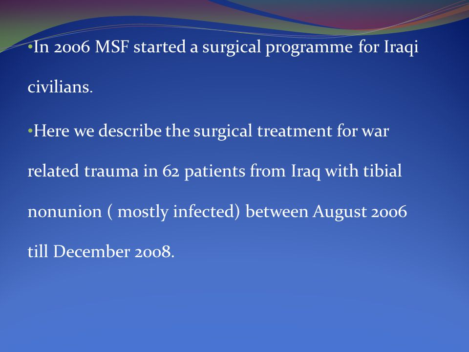 Following the general principals of two staged surgeries with a multidisciplinary surgical team, trustworthy lab.results and proper antibiotic management, patient populations surgically treated in Amman benefit from similar outcomes to those receiving treatment in better resourced contexts.