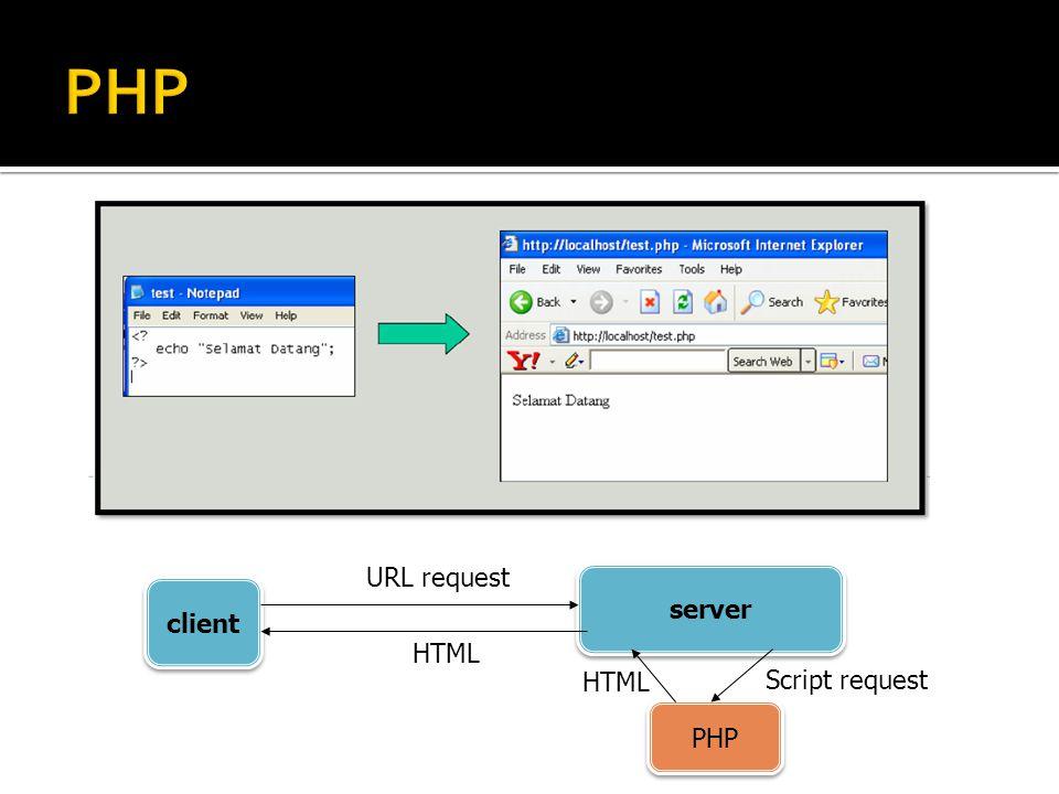 client server URL request HTML PHP Script request HTML