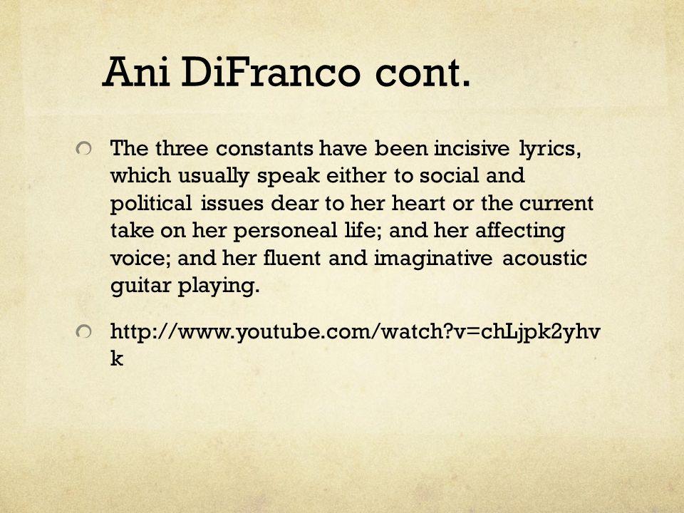 Ani DiFranco cont.
