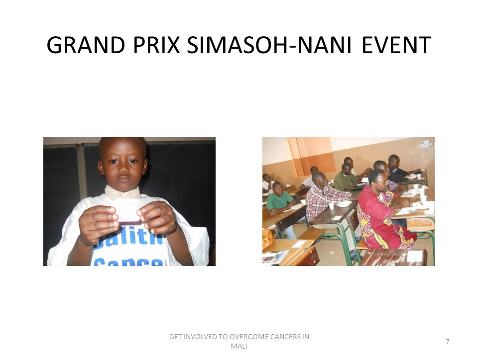 GRAND PRIX SIMASOH-NANI EVENT GET INVOLVED TO OVERCOME CANCERS IN MALI 7