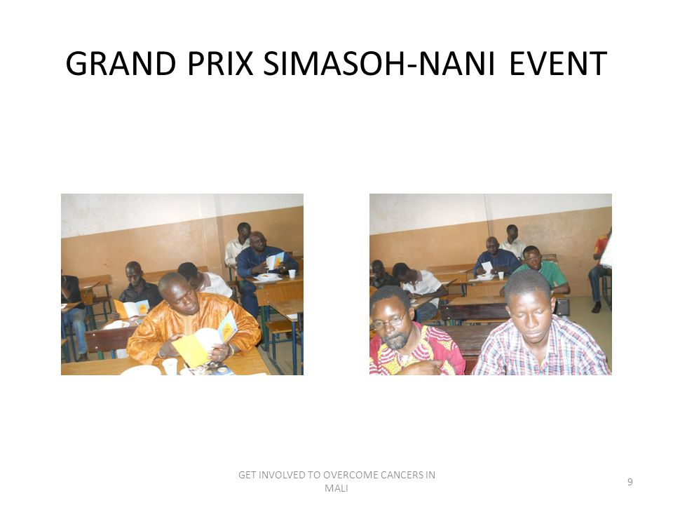 GRAND PRIX SIMASOH-NANI EVENT GET INVOLVED TO OVERCOME CANCERS IN MALI 9