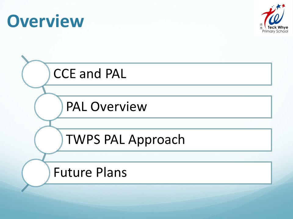Overview CCE and PAL PAL Overview TWPS PAL Approach Future Plans