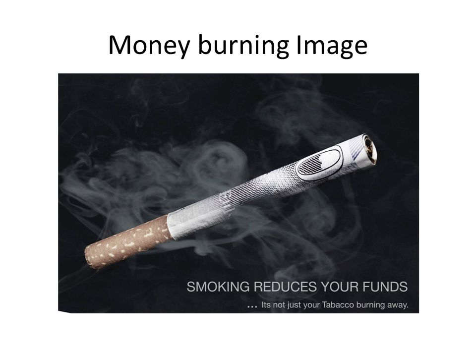 Money burning Image
