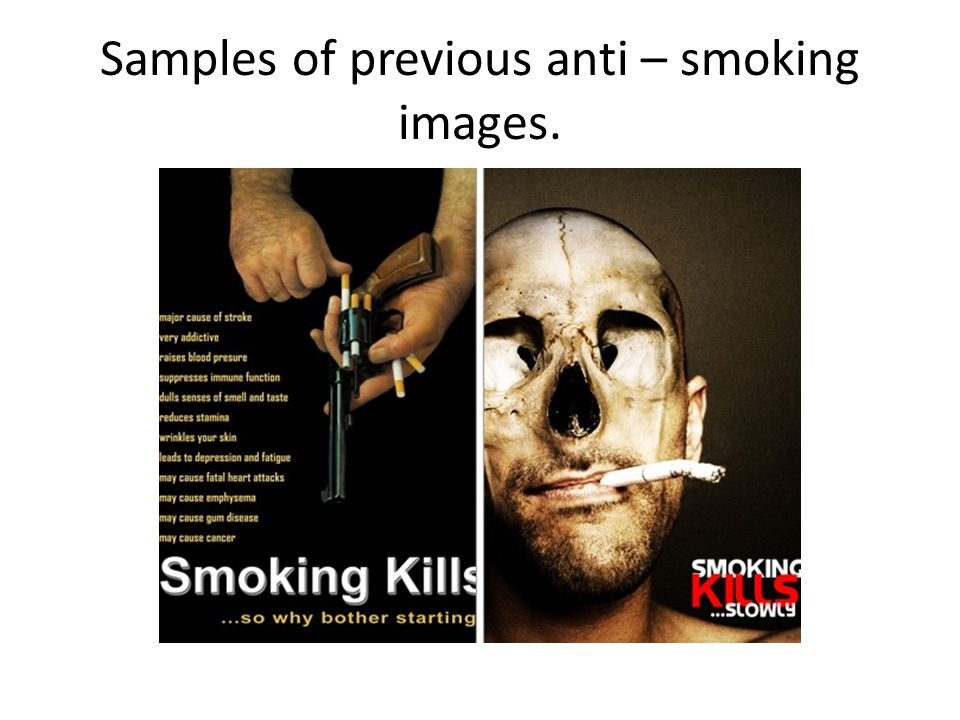 Samples of previous anti – smoking images.