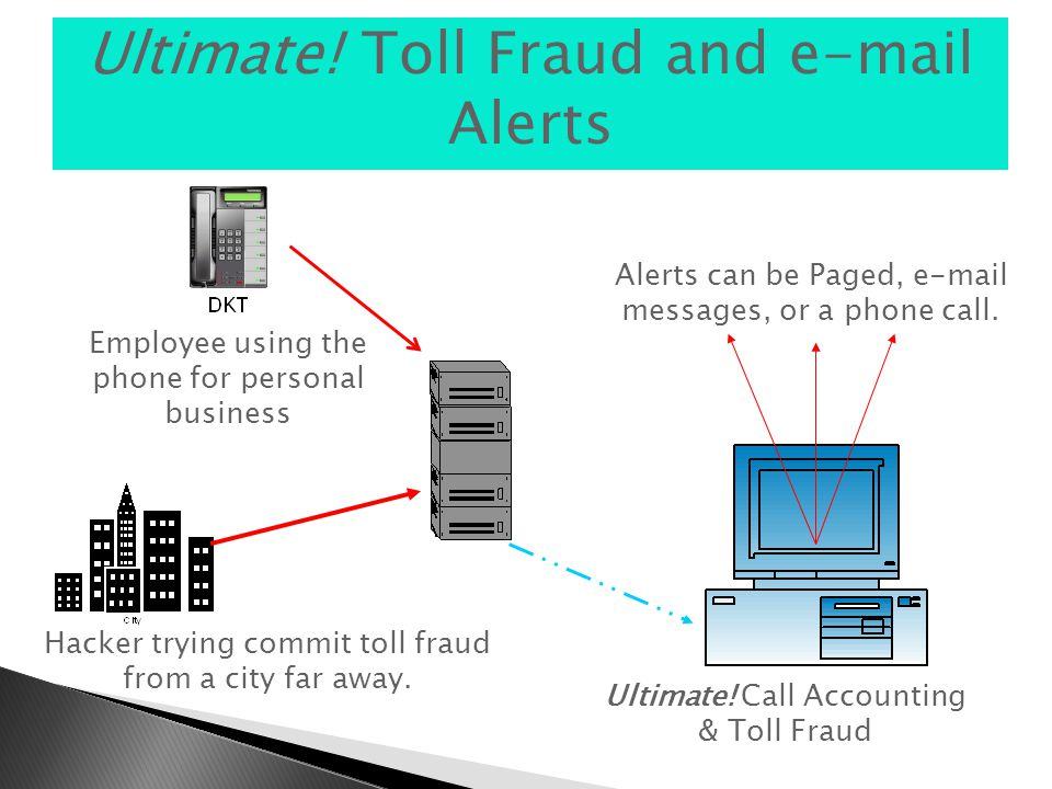 Ultimate. Toll Fraud and e-mail Alerts Hacker trying commit toll fraud from a city far away.