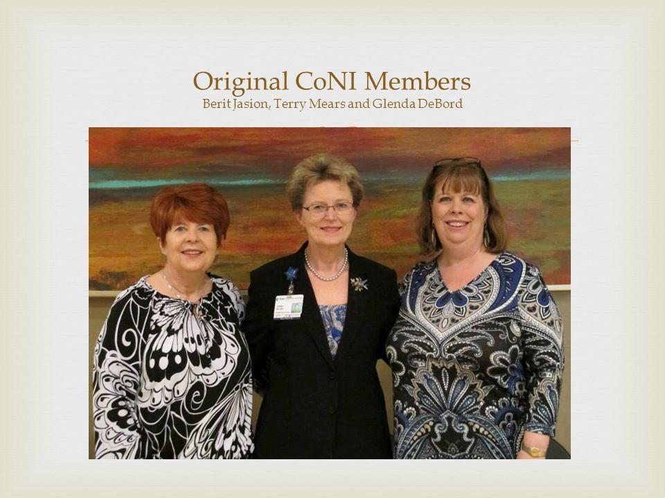  Original CoNI Members Berit Jasion, Terry Mears and Glenda DeBord