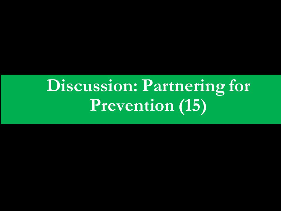 Discussion: Partnering for Prevention (15)