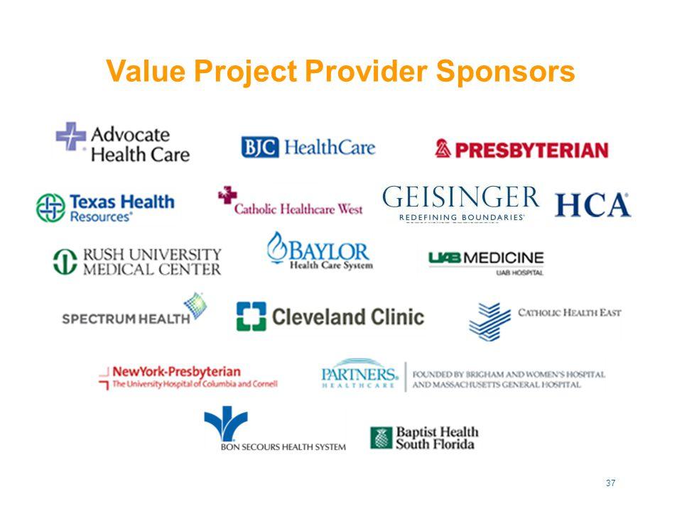 Value Project Provider Sponsors 37