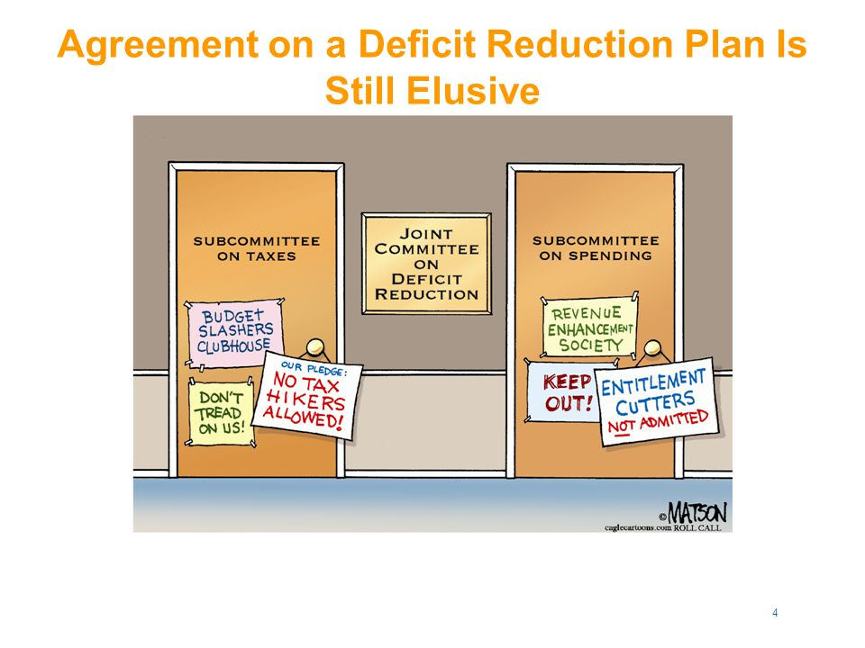 Agreement on a Deficit Reduction Plan Is Still Elusive 4