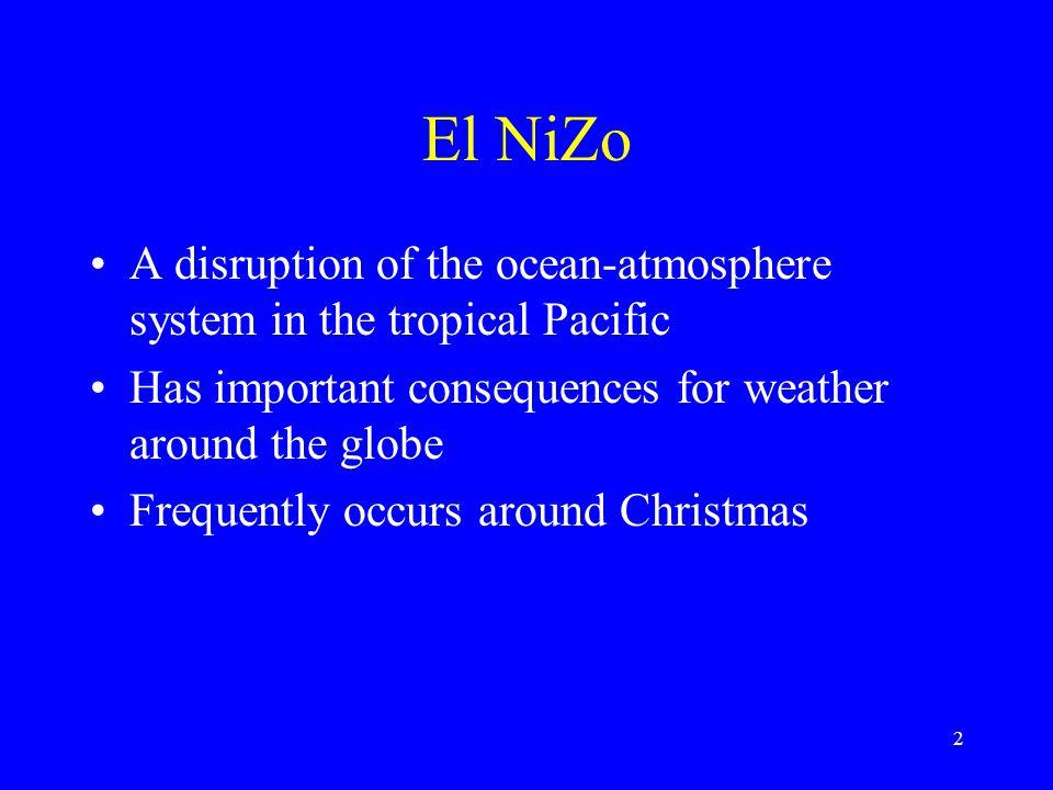 13 El Niño condition: departures from normal