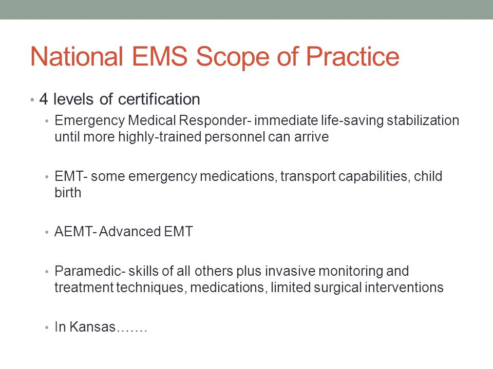 The Healthcare system EMS is only one cog in the wheel Prehospital versus out-of-hospital Our decisions/actions can have a profound effect on patients ED/hospitals Specialty Centers Trauma Burn OB/Peds Poison Stroke/Cardiac Hyperbarics Psych