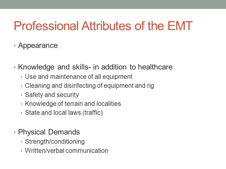 Professional attributes, cont.