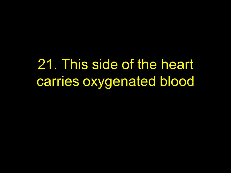 21. This side of the heart carries oxygenated blood