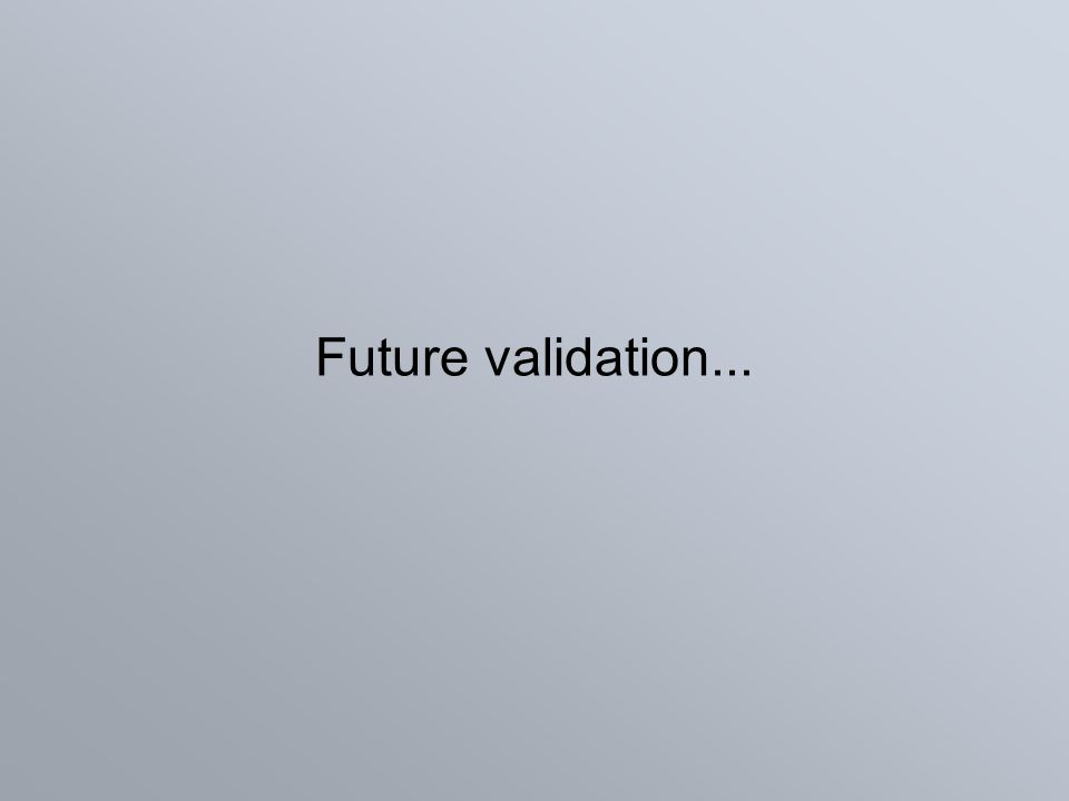 Future validation...