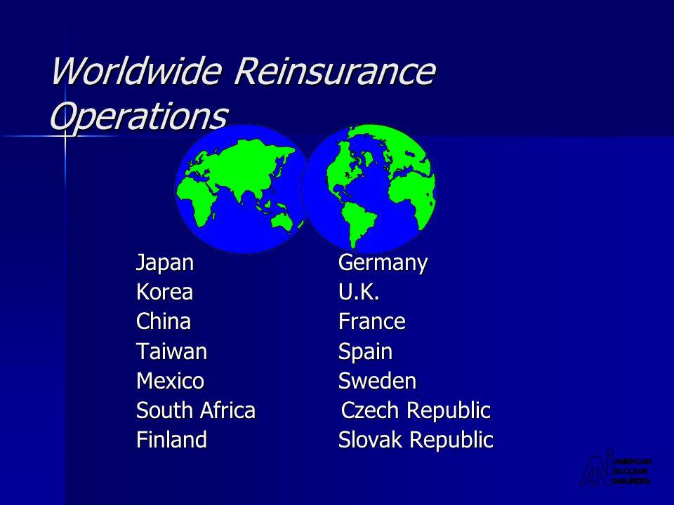 Worldwide Reinsurance Operations JapanGermany KoreaU.K.