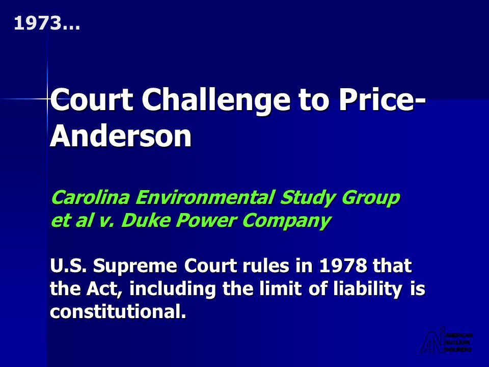 Court Challenge to Price- Anderson Carolina Environmental Study Group et al v.