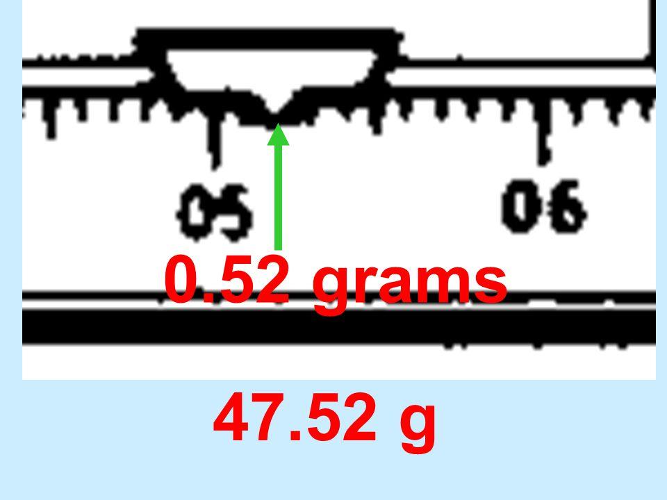 0.52 grams 47.52 g