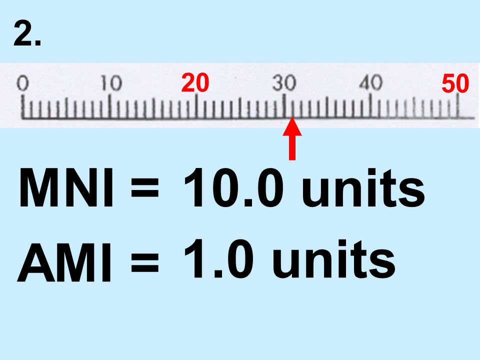 2. 20 50 MNI = AMI = 10.0 units 1.0 units