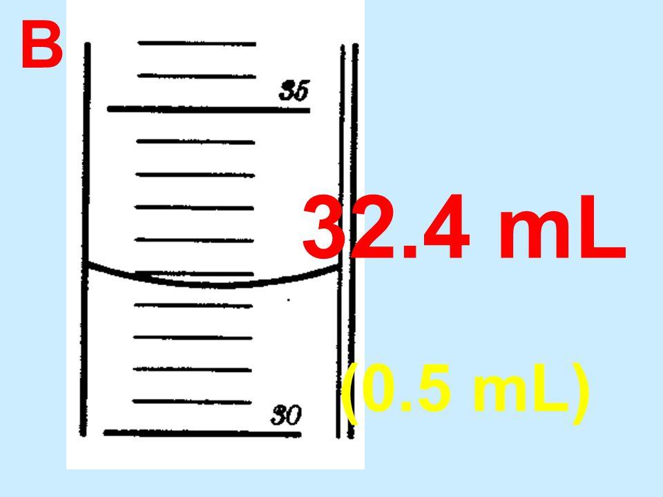B 32.4 mL (0.5 mL)