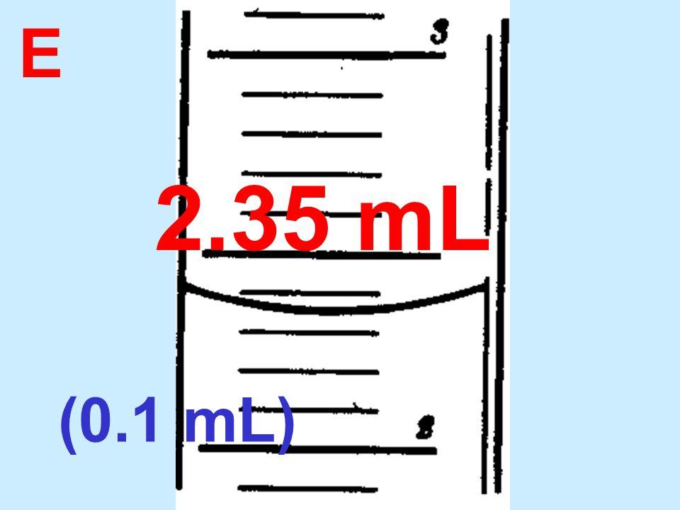 E 2.35 mL (0.1 mL)