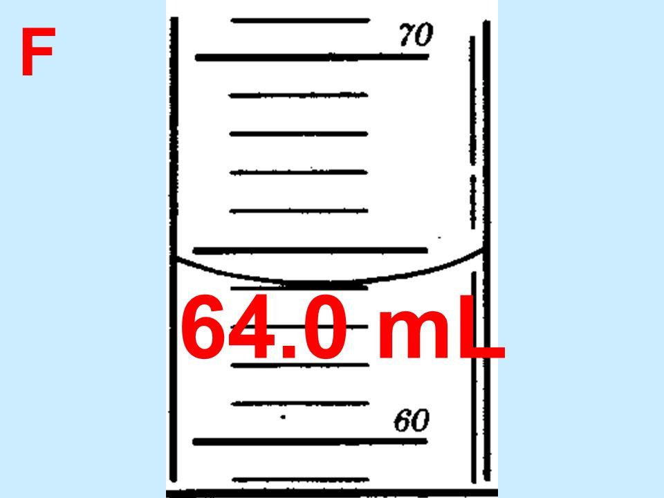 F 64.0 mL