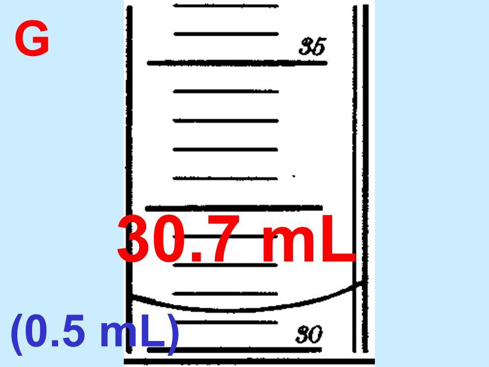 G 30.7 mL (0.5 mL)