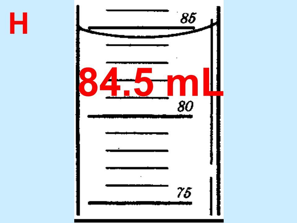 H 84.5 mL
