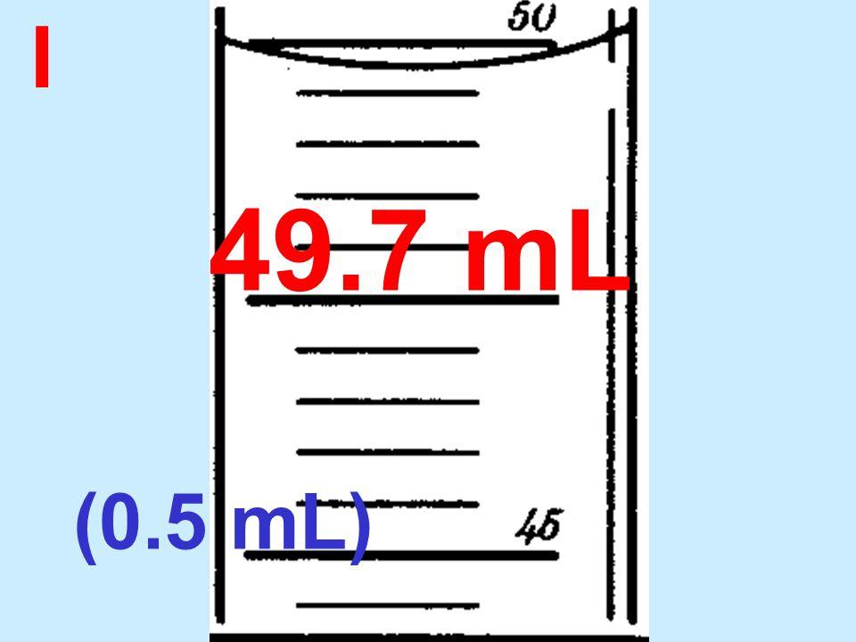 I 49.7 mL (0.5 mL)