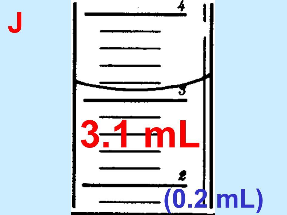 J 3.1 mL (0.2 mL)