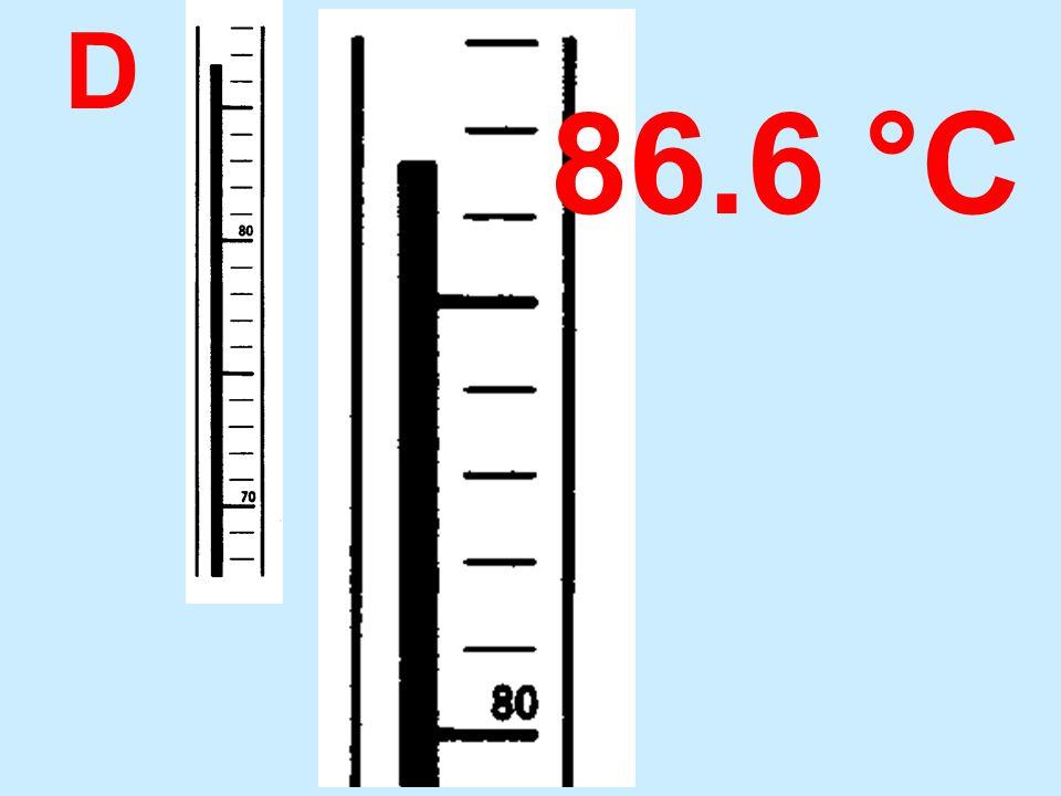 D 86.6 °C