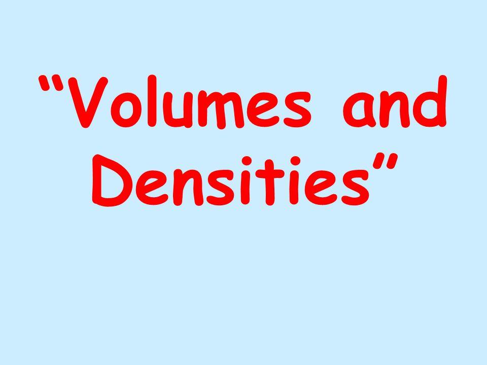 I 17. Volume = 18. Density = 50 cm 3 2.85 g/cm 3 Initial Final