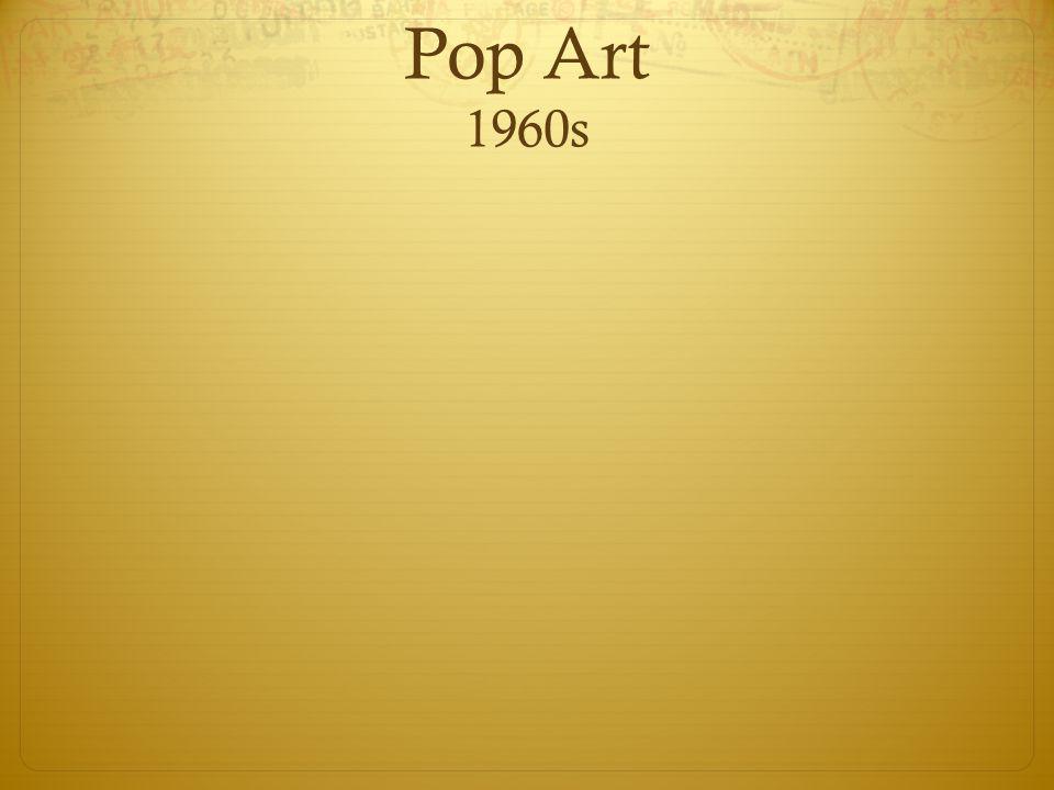 Pop Art 1960s