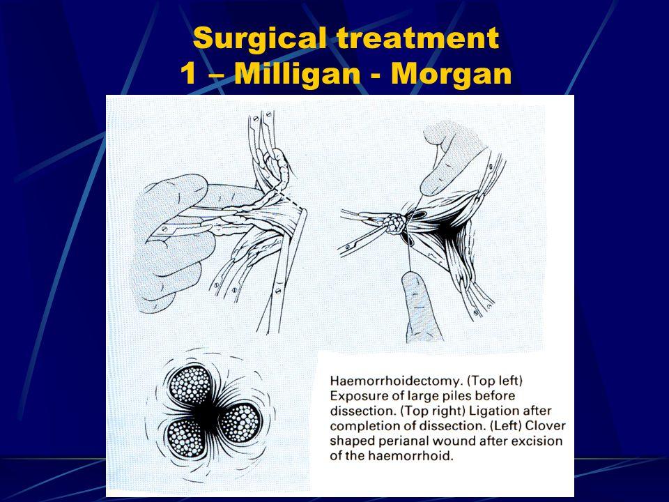 Surgical treatment 1 – Milligan - Morgan