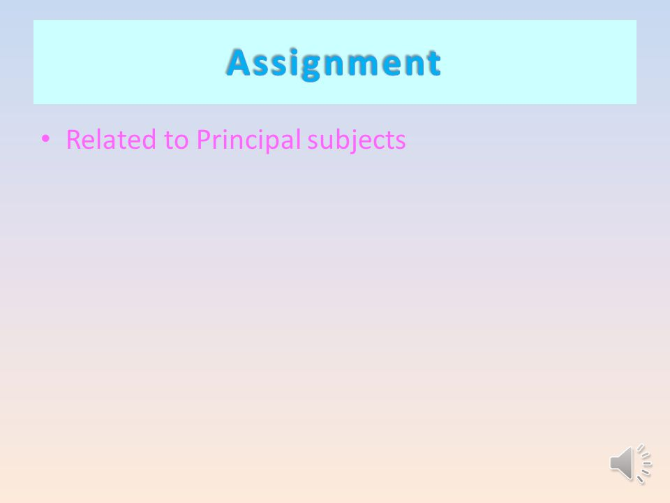 Related to Principal subjects