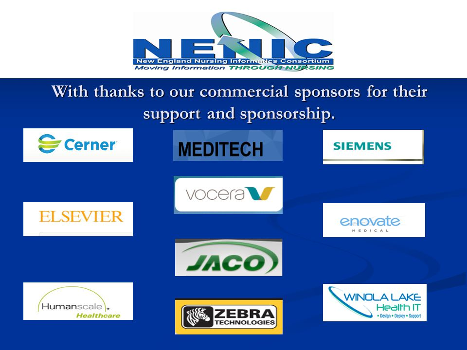 With thanks to our commercial sponsors for their support and sponsorship.