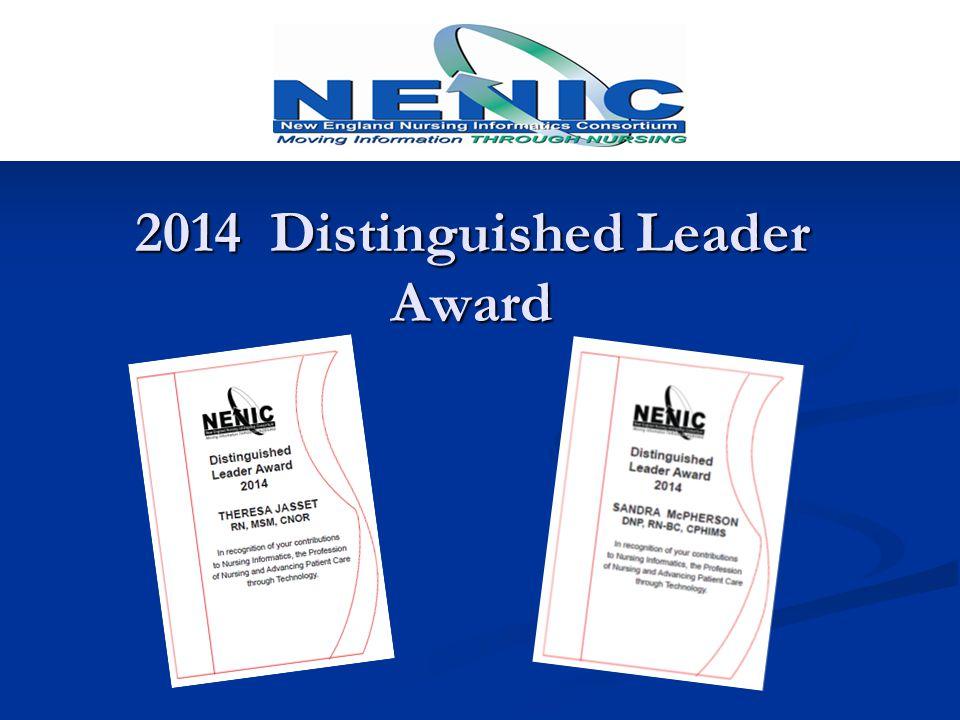 2014 Distinguished Leader Award