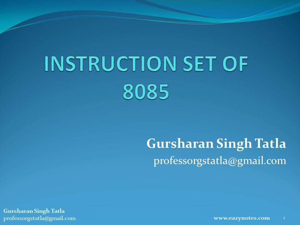 Gursharan Singh Tatla professorgstatla@gmail.com www.eazynotes.com 1 Gursharan Singh Tatla professorgstatla@gmail.com