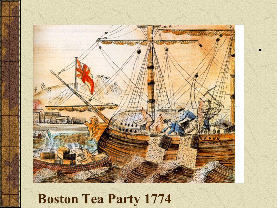Boston Tea Party 1774
