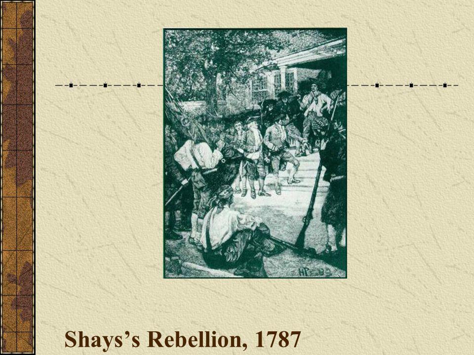 Shays's Rebellion, 1787