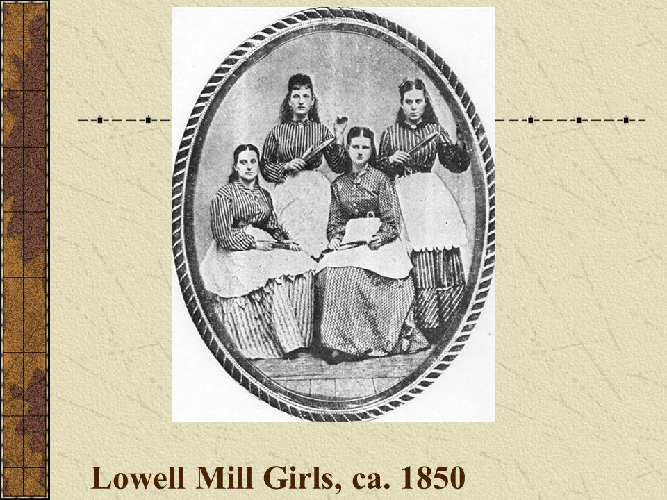 Lowell Mill Girls, ca. 1850
