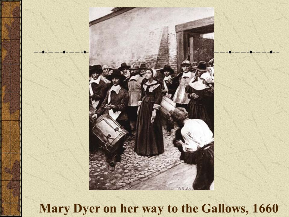 Mary Dyer on her way to the Gallows, 1660