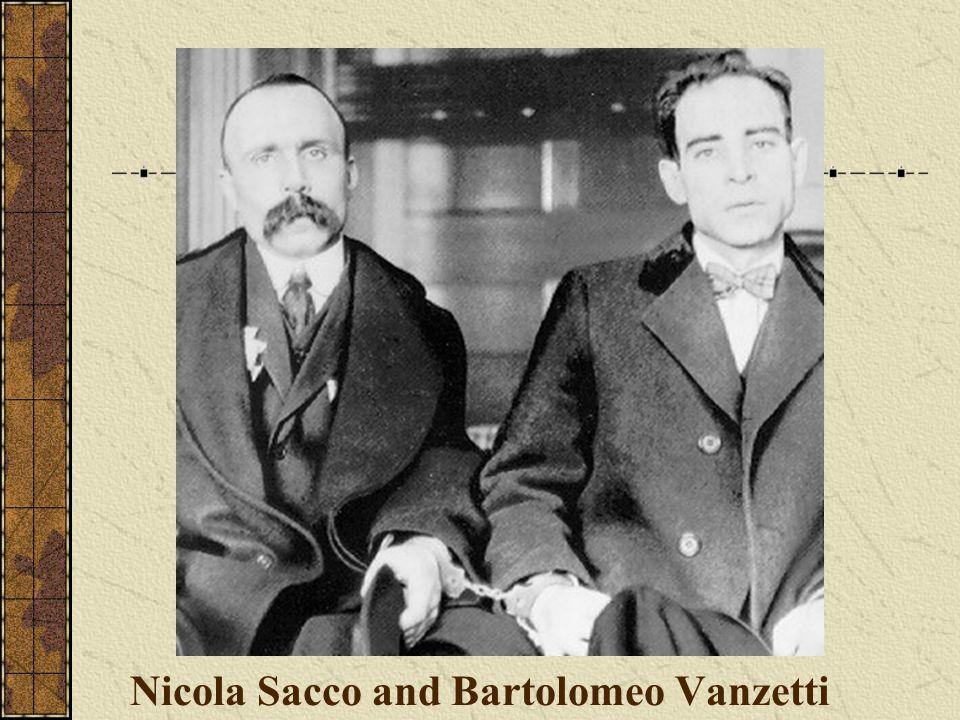 Nicola Sacco and Bartolomeo Vanzetti