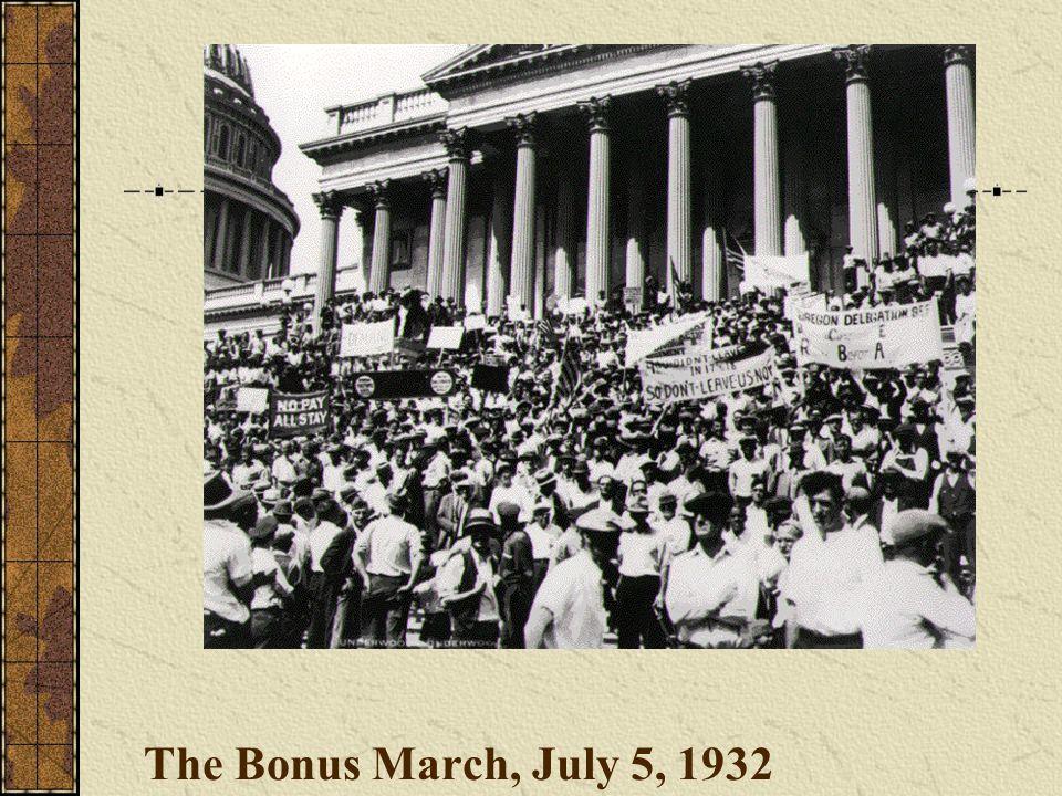 The Bonus March, July 5, 1932