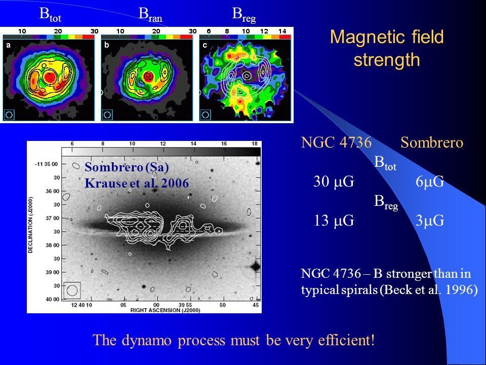 NGC 4736 Sombrero B tot 30  G 6  G B reg 13  G 3  G Sombrero (Sa) Krause et al.